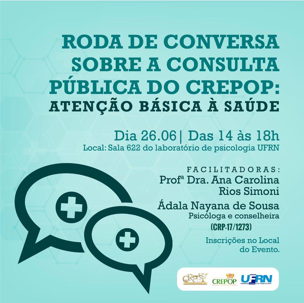 Roda de Conversa sobre a Consulta Pública do Crepop: Atenção Básica à Saúde