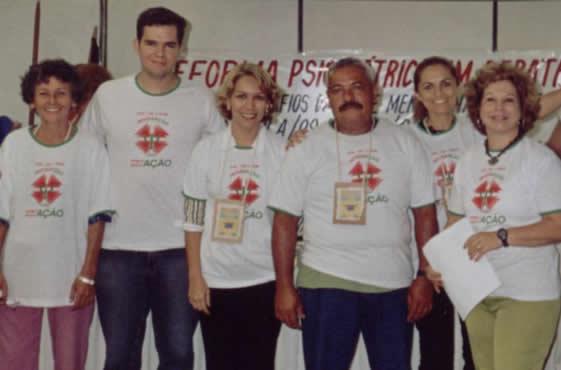 Foto da Comissão Pró-desmembramento do CRP-13 em 2004